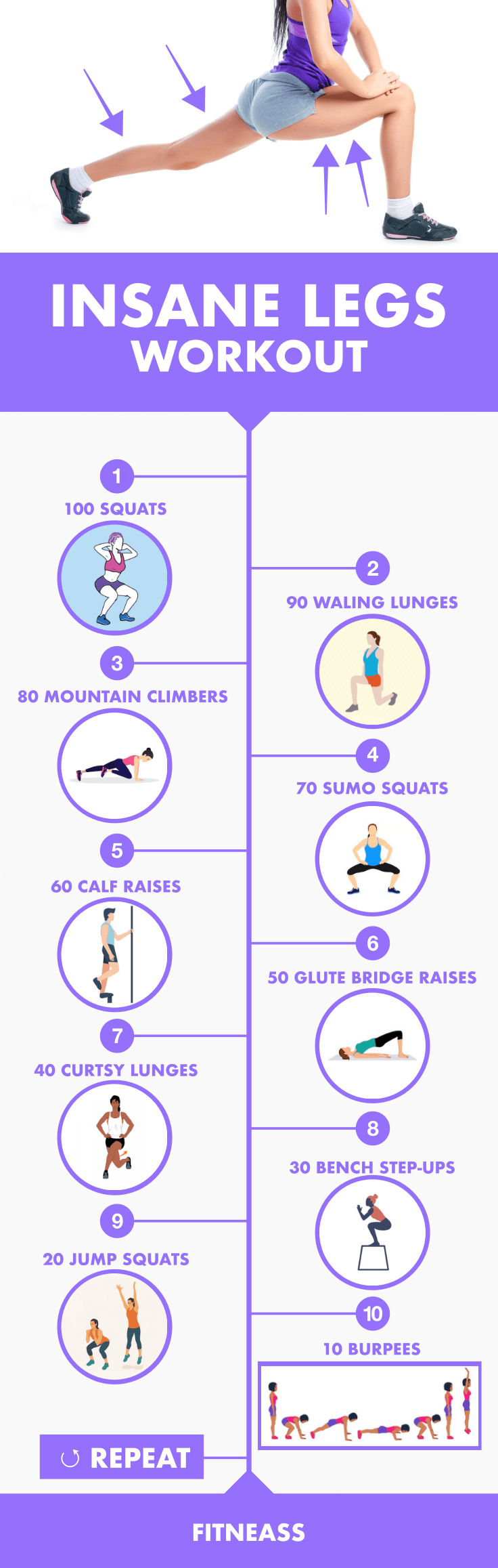 Insane Legs Workout - The One Hundred Challenge