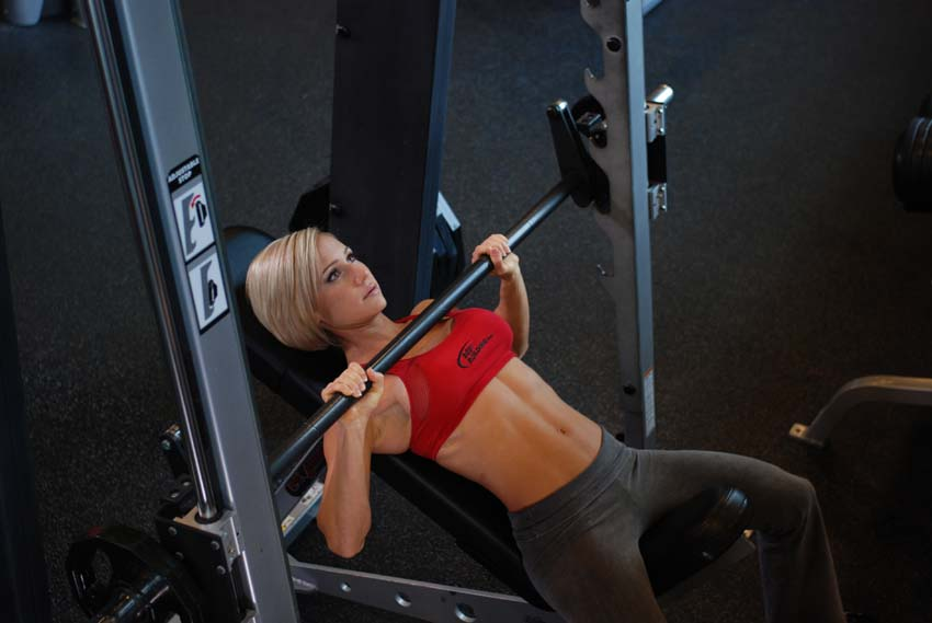 Smith incline shoulder press