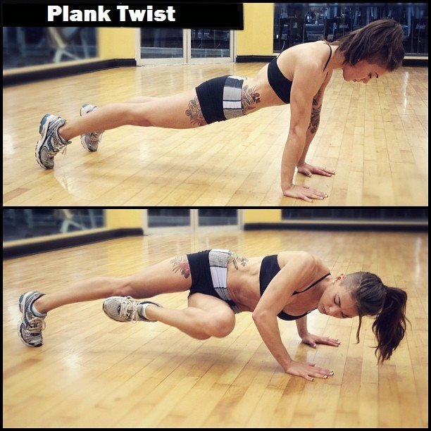 plank twist