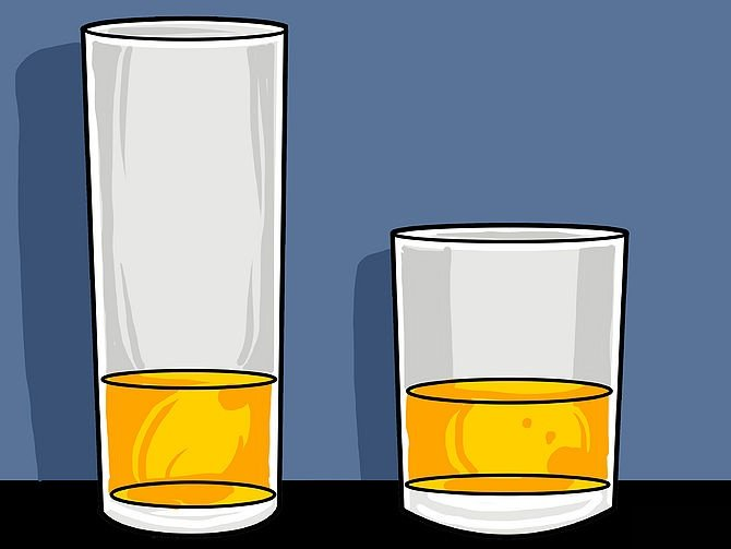 Drink from tall glasses