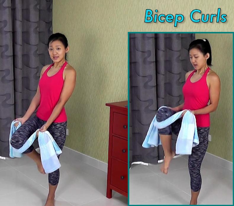 Towel Exercise Shoulder: Towel Workout To Tone Your Body From Head To Toe