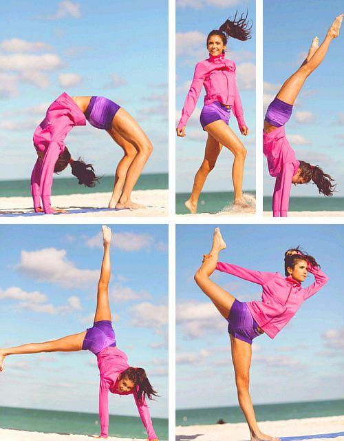 Nina Dobrev's Yoga workout