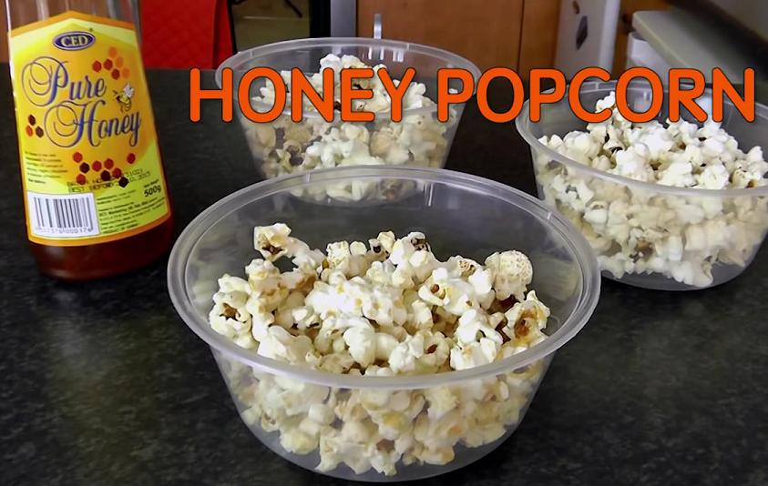 Late night snacks honey popcorn