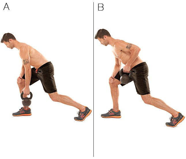 One-arm raw lunge