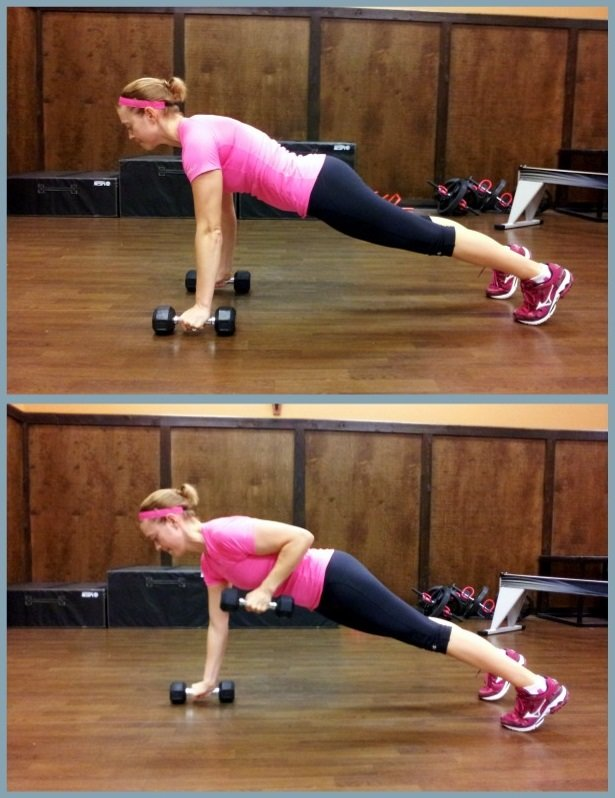 Plank Row Push-Up