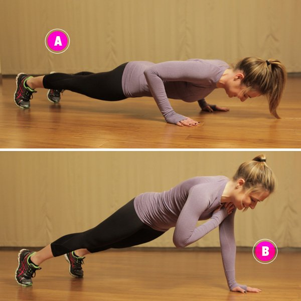 Shoulder Tap Push-up