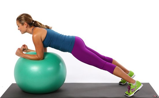 Swiss Ball Plank Rocks