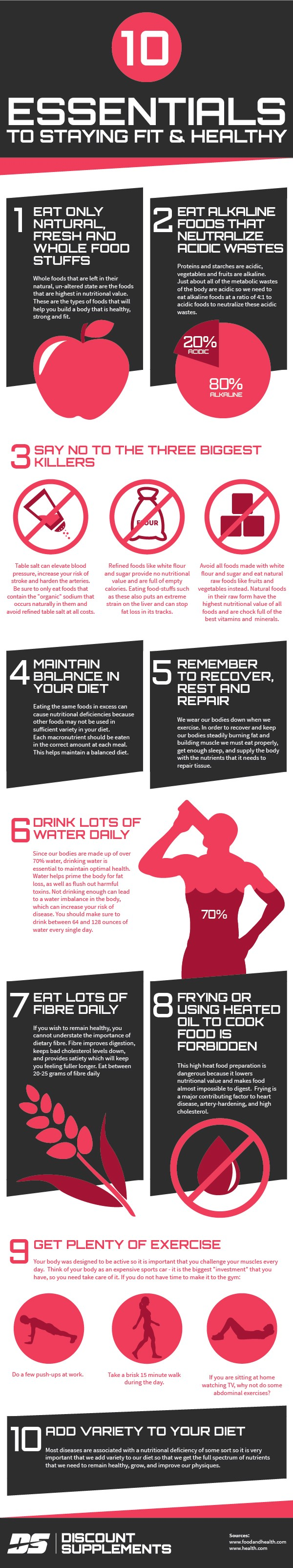 10 Essential for staying fit and healthy