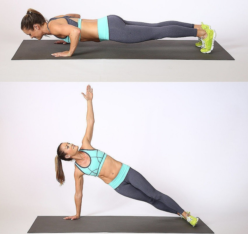Push Up To Side Plank (T-Push Up)