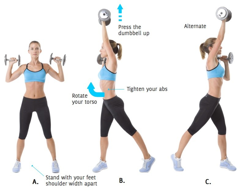 Shoulder Press And Twist