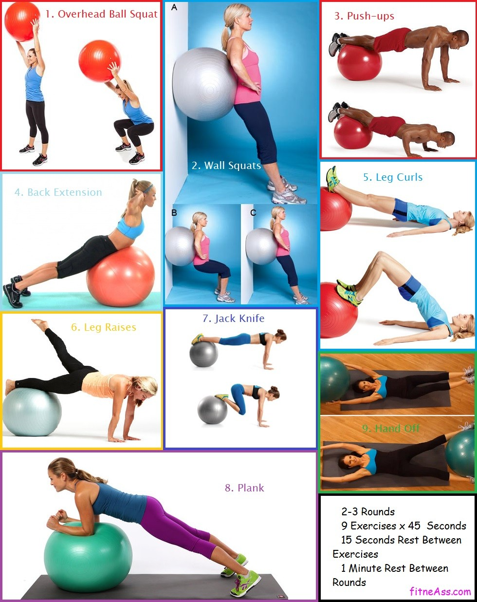 fitneAss | 20 Minute Beginner Stability Swiss Ball Workout