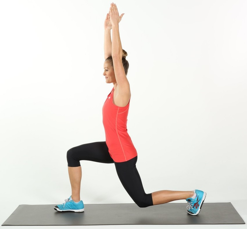 Lunge With Overhead Reach