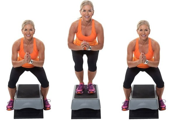 Straddle Squat Jumps