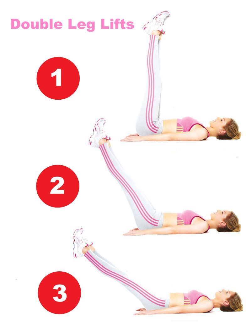 Double Leg Lifts For Flat Abs