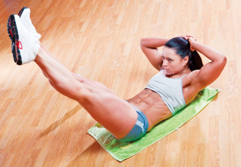 Legs Up Crunches For Flat Abs