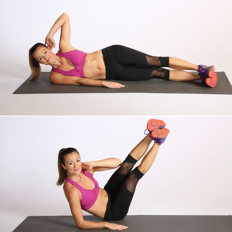 Ab Circuit Oblique V Crunch
