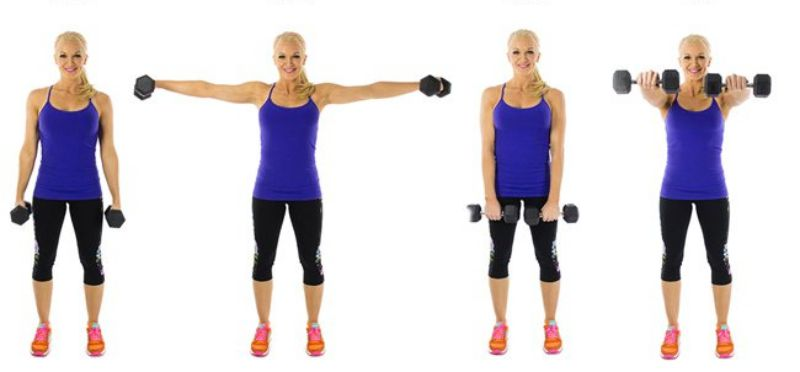 Dumbbell Front and Lateral Raise