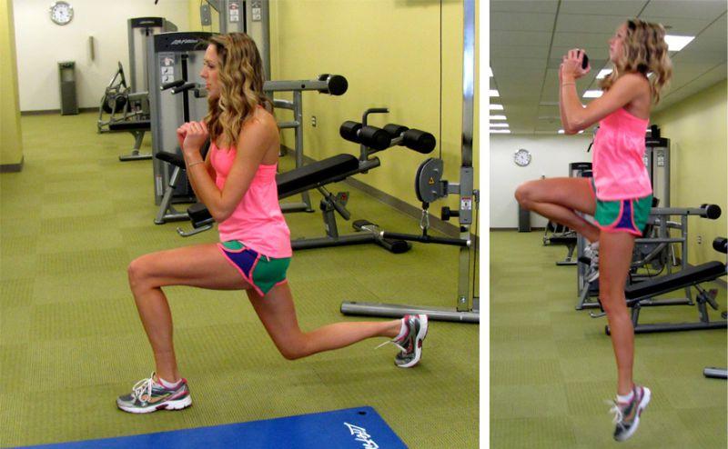 Slim Down Challenge Lunge Hop