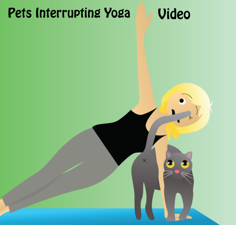 Pets Interrupting Yoga