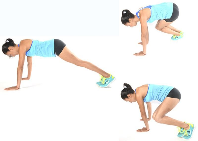 Plank With Hops