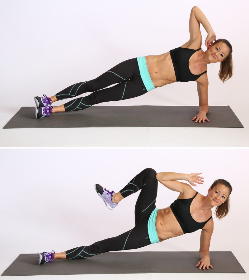 Slim Down Challenge Side Plank Crunch