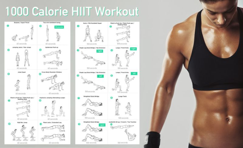1000 Calorie HIIT Workout Without Any Equipment