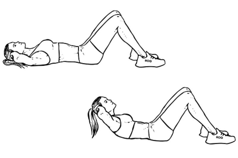 Exercises For Six Pack Abs - Simple Crunch