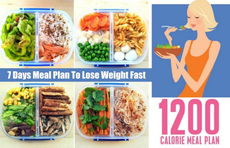 Lose Weight Fast With The 1200-Calorie Meal Plan For 7 Days