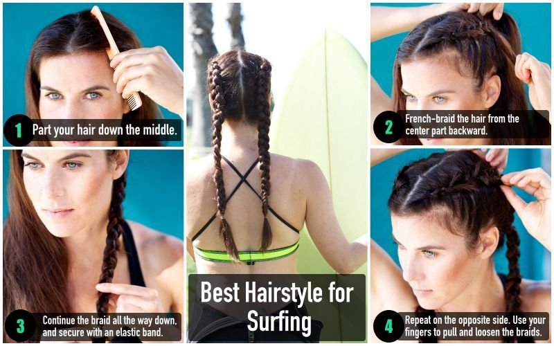 Best Fitness Hairstyle for Surfing