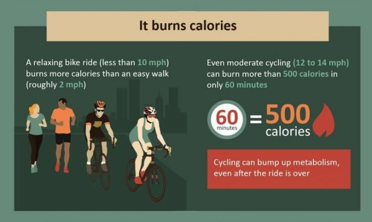 Among all biking benefits, burning calories is the best one.