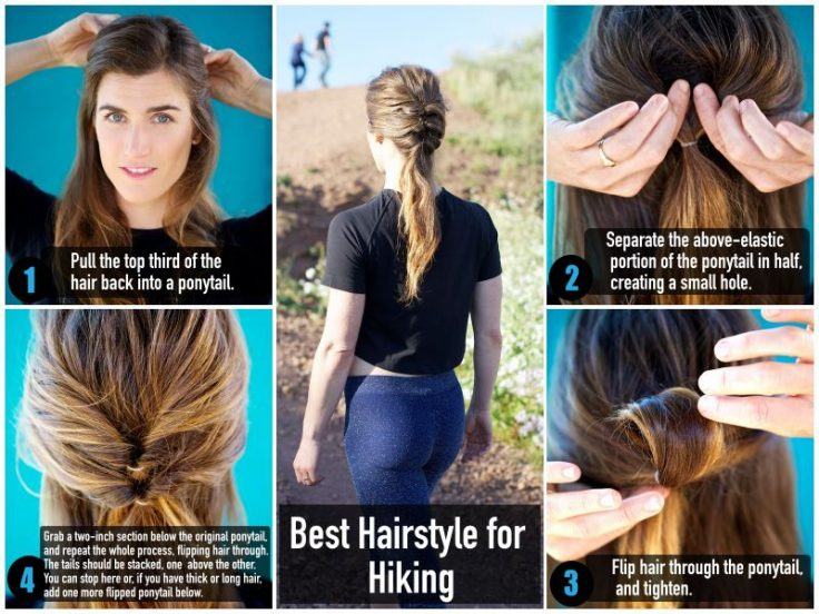 Fitness Hairstyle for Hiking