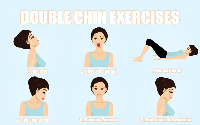 6 Double Chin Exercises