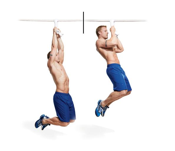 Body Workout With Towel: Towel Pull Up Exercise For Forearms