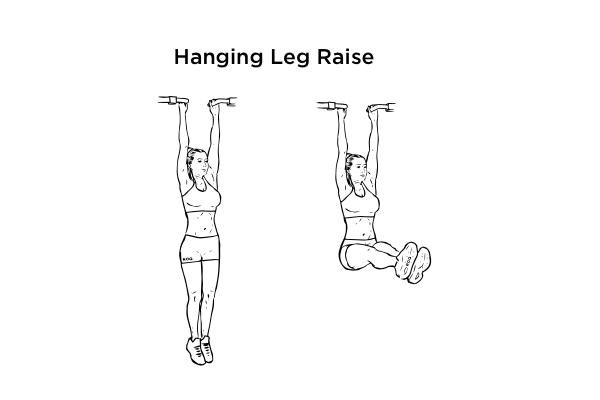 V cut abs - hanging leg raise