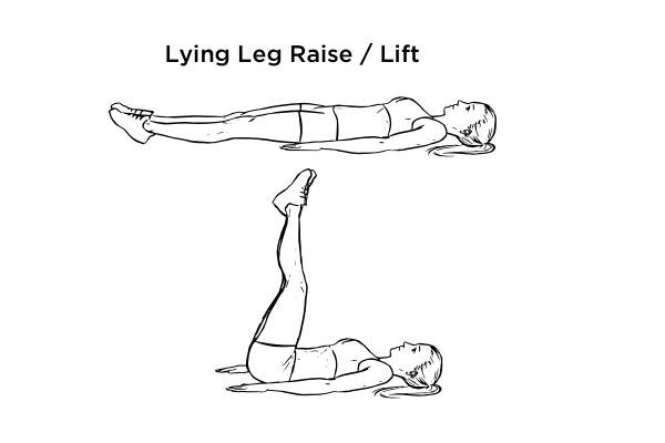 V cut abs - lying leg raise