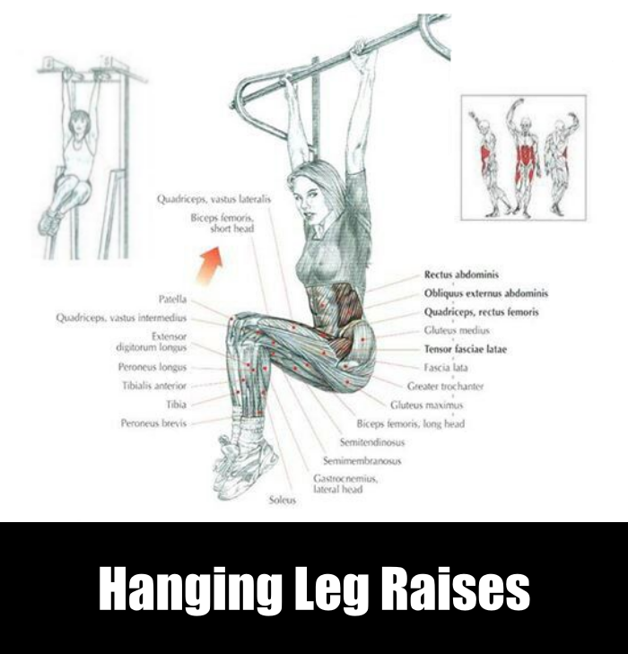 Hanging Leg Raises for V Abs