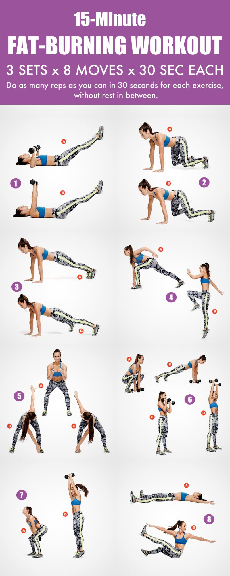 15-Minute Total Fat-Burning Workout Routine