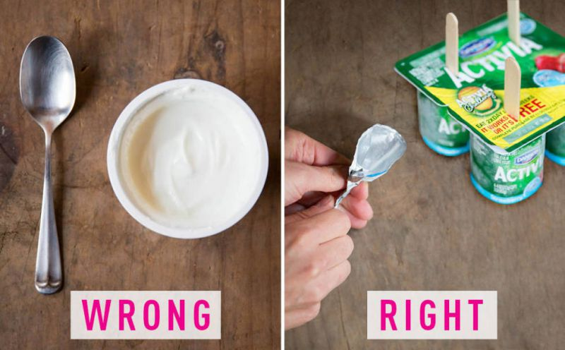 Eat Yogurt Without Spoon