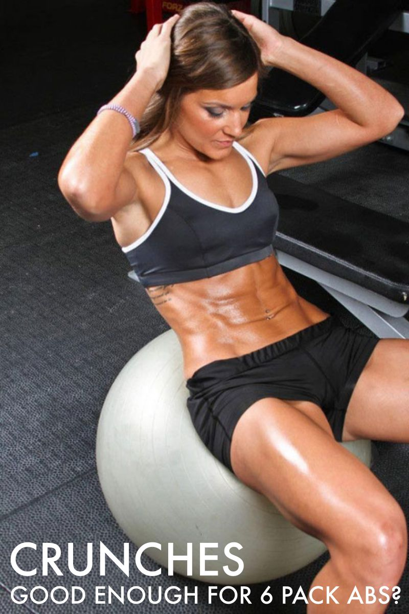 Crunches With Exercise Ball