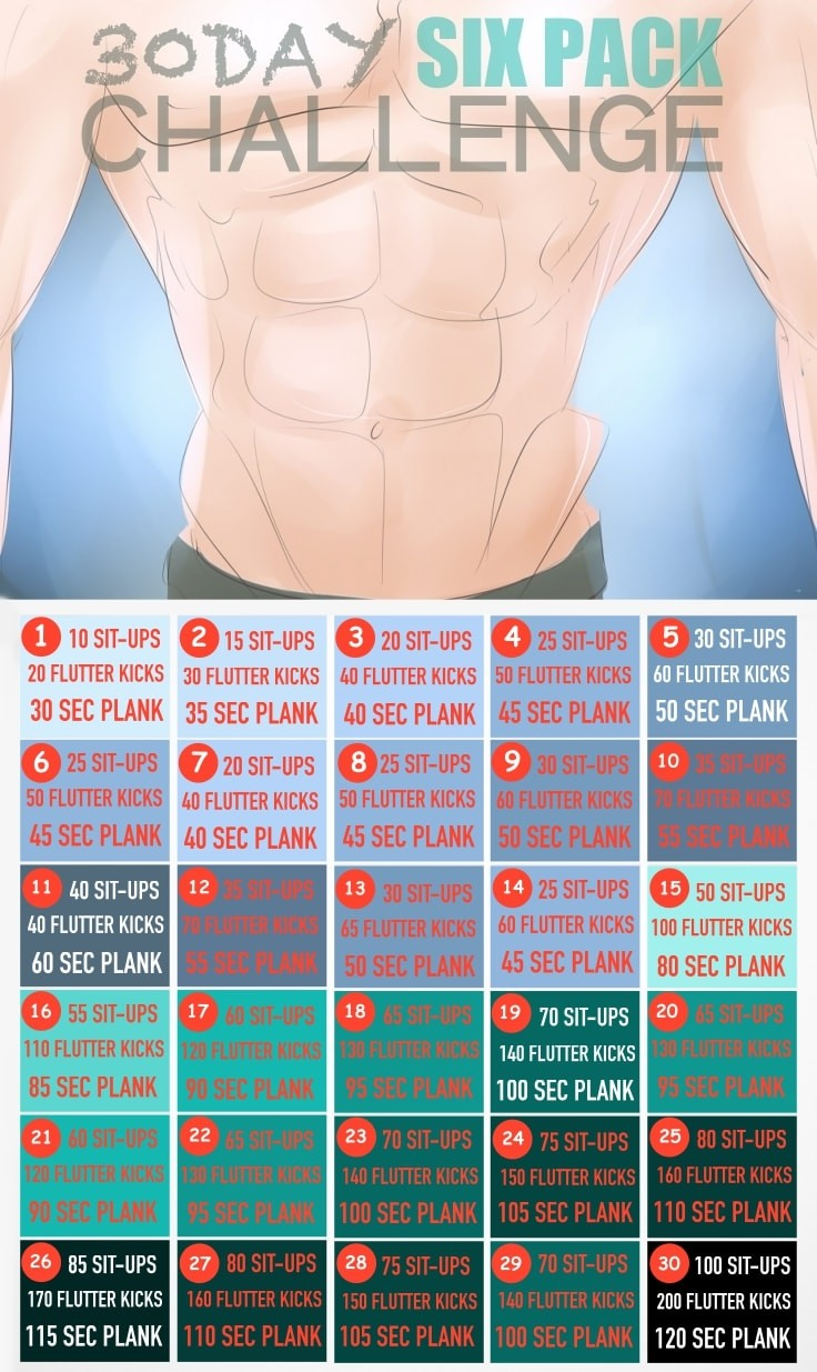 30-Day Summer Six Pack Challenge