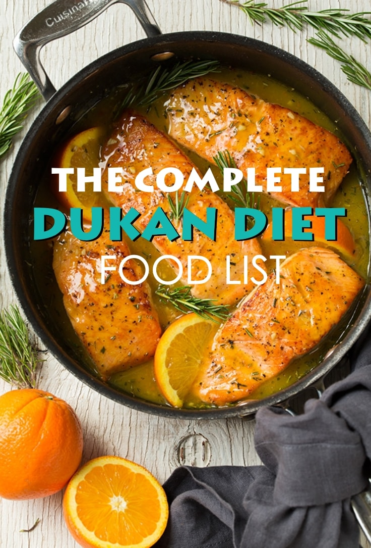 The Complete Dukan Diet Food List