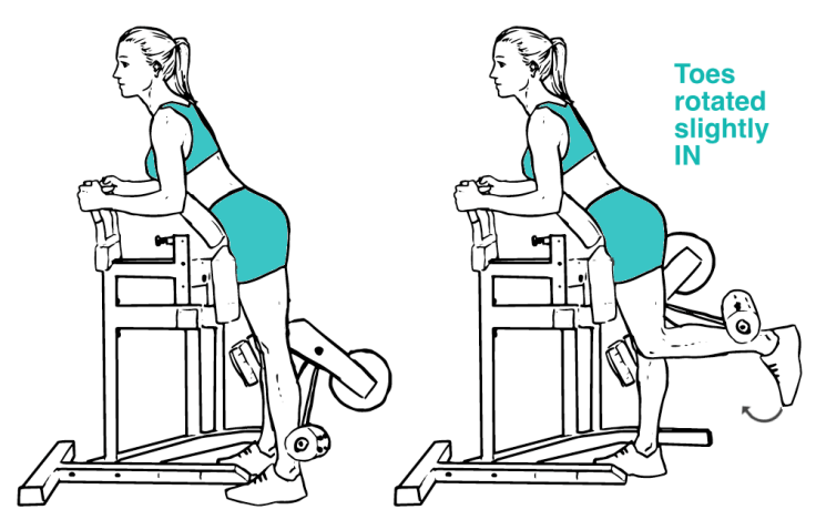 Standing Leg Curl with toes in