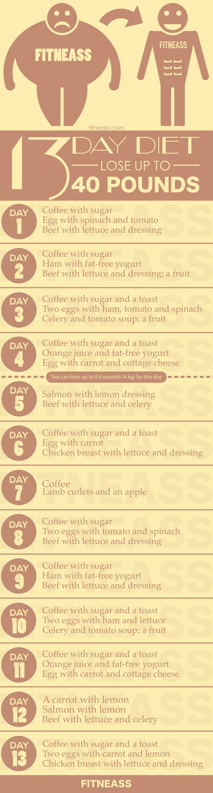 13-Day Diet To Lose Up To 40 Pounds