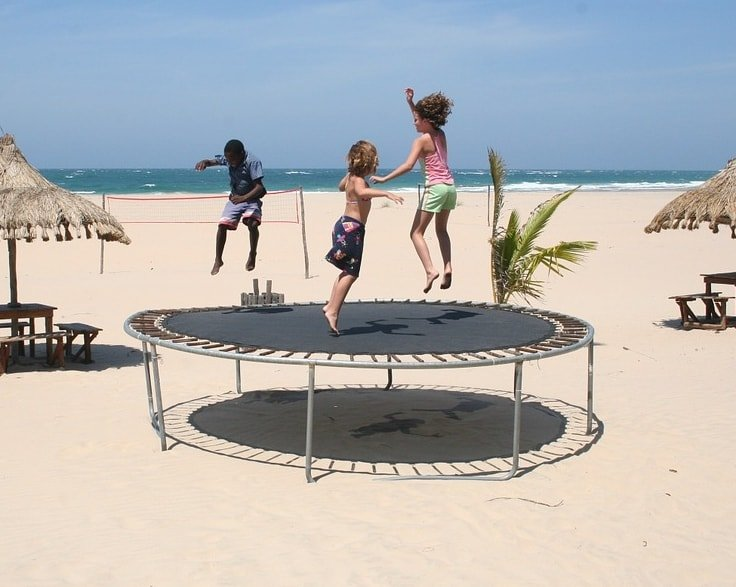 Fitness for Kids with a Trampoline