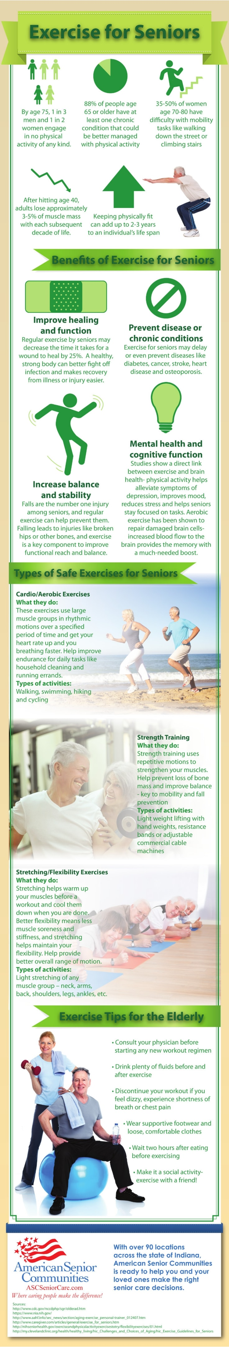 Aging Gracefully With Exercise Infographic