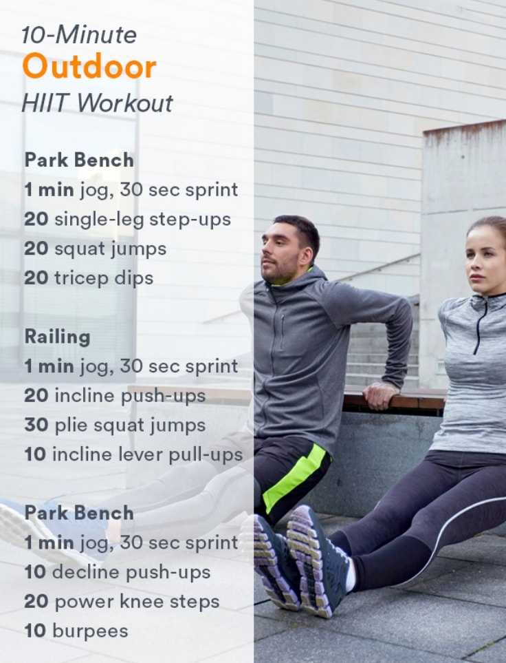 10 Minute Outdoor HIIT Workout
