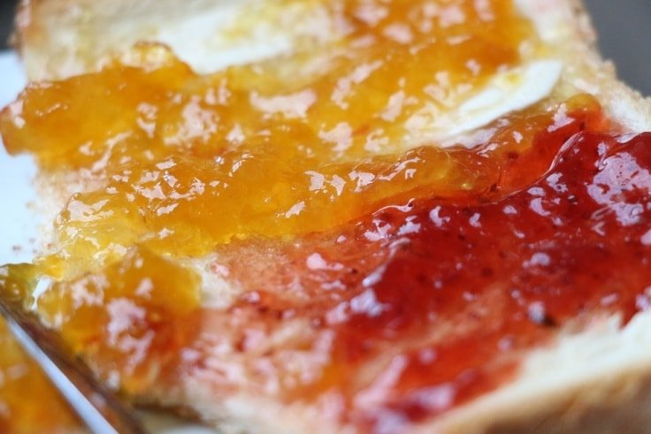 Worst Breakfast Foods - Toast with jam