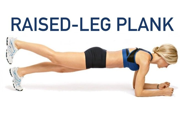 5-Min Plank Workout - Raised-Leg Plank
