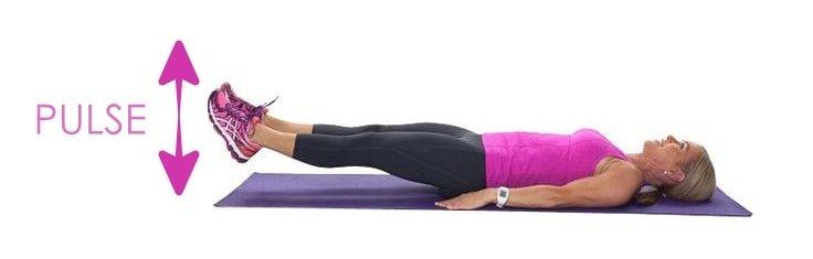 Core Workout - Double Leg Pulses