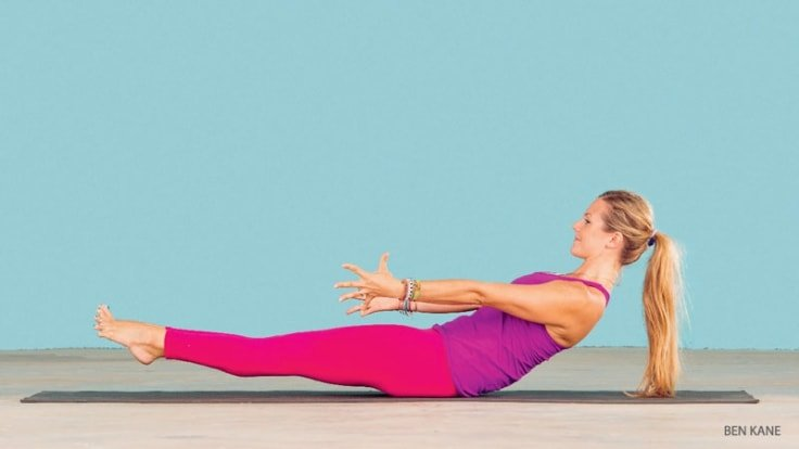 Core Workout - Low Boat Pose